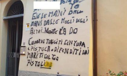 """Scritte sui muri contro il maresciallo: """"Giù le mani dalle mogli degli altri"""""""