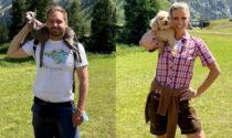 Da Hunziker e Trussardi appello a non abbandonare i cani prima delle ferie