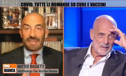 """Brosio No vax sbrocca in tv, Bassetti: """"Allora vai a Lourdes"""""""
