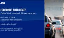 Ecobonus auto usate, dal 28 settembre via alle prenotazioni
