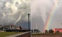Le spettacolari immagini del tornado che abbraccia l'arcobaleno