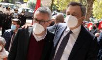 """Abbraccio con Draghi alla sede della Cgil assaltata, Landini: """"Presenza non scontata"""""""